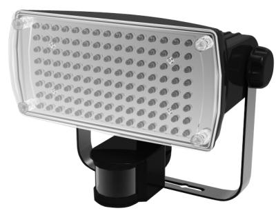rowi electronics wandstrahler 120 led bewegungsmelder wr120 led bw 7 watt neu ebay. Black Bedroom Furniture Sets. Home Design Ideas